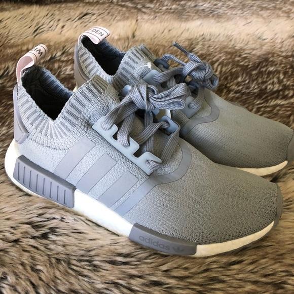 75bf6e61951a Adidas NMD R1 Primeknit Grey Sneakers